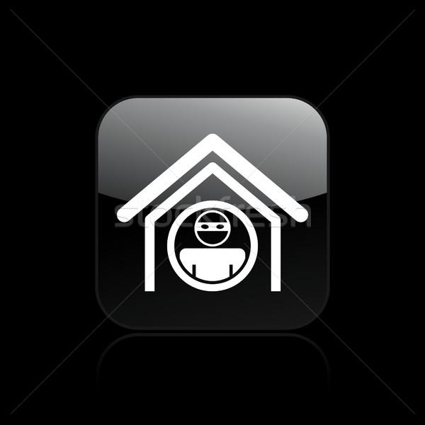 Otthon tolvaj ikon autó Stock fotó © Myvector