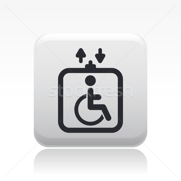 Handicap elevator icon  Stock photo © Myvector