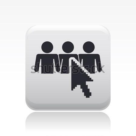 Stok fotoğraf: Sosyal · web · simgesi · fare · ağ · web · ok