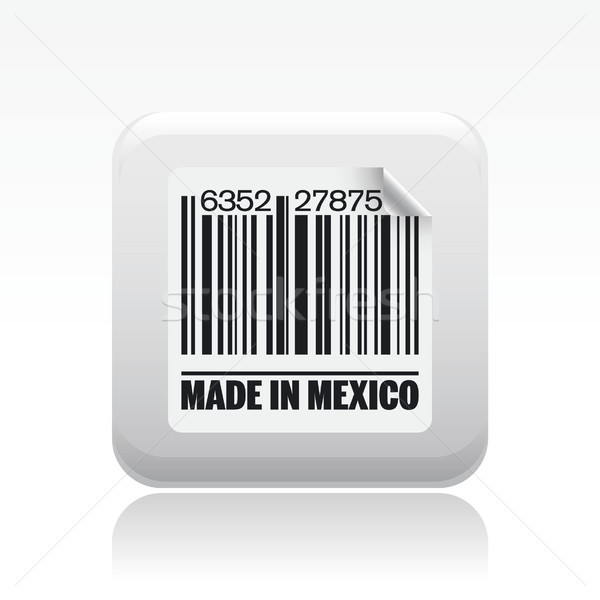 Meksyk ikona rynku atramentu etykiety kodów kreskowych Zdjęcia stock © Myvector
