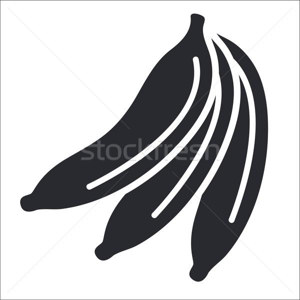 банан икона бананы Сток-фото © Myvector