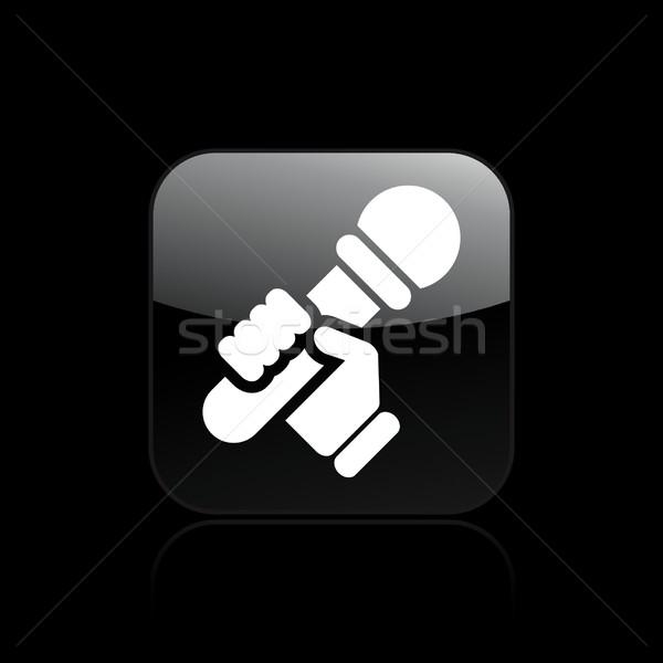 Karaoke icono casa casa cantante Foto stock © Myvector