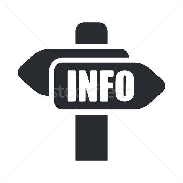 Info cartel icon Stock photo © Myvector