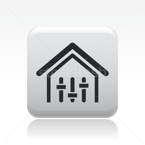 Ház irányítás ikon zene otthon hálózat Stock fotó © Myvector