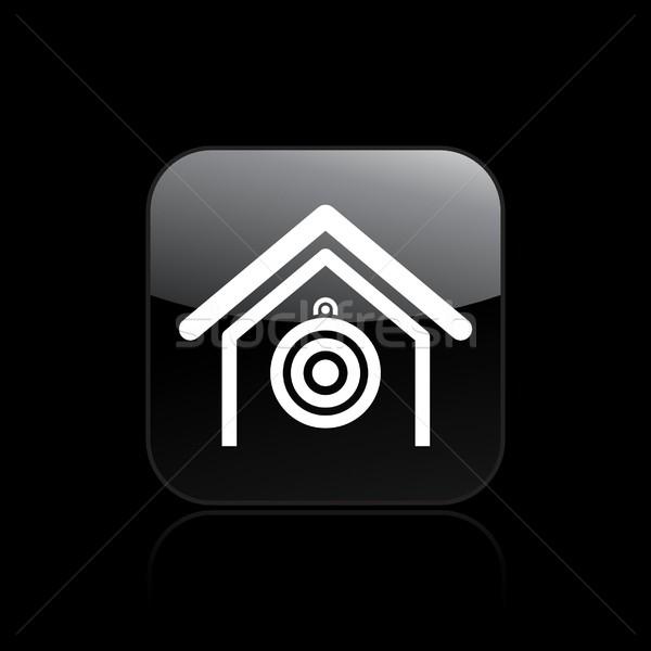 целевой икона домой концепция Сток-фото © Myvector