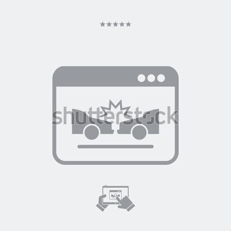 Autó csattanás autók biztosítás Stock fotó © Myvector