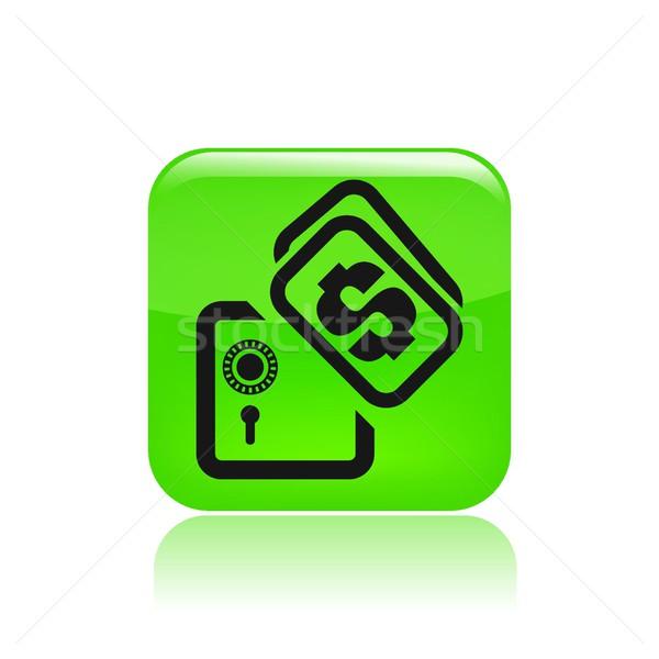 Bank icon veiligheid Stockfoto © Myvector
