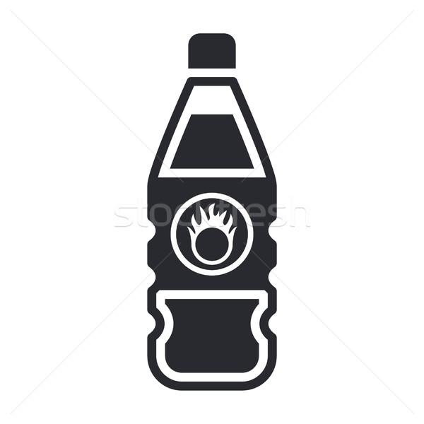 Perigoso garrafa ícone líquido poluição etiqueta Foto stock © Myvector
