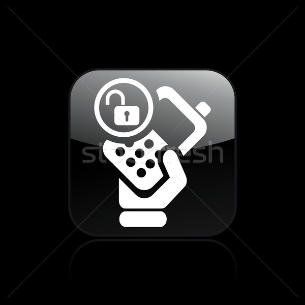 Phone lock icon Stock photo © Myvector