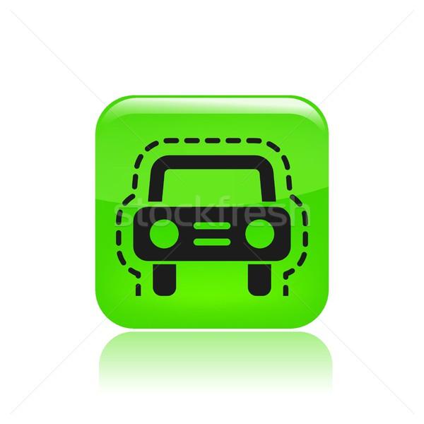 автомобилей страхования икона машина защиту Сток-фото © Myvector