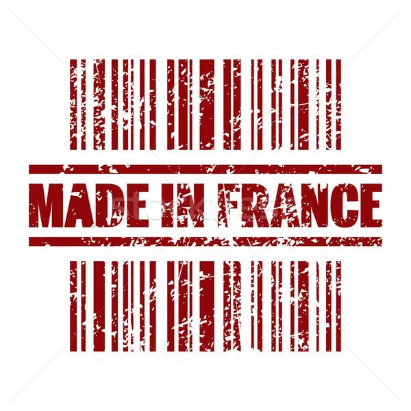 Франция икона рынке продажи Label штрих Сток-фото © Myvector