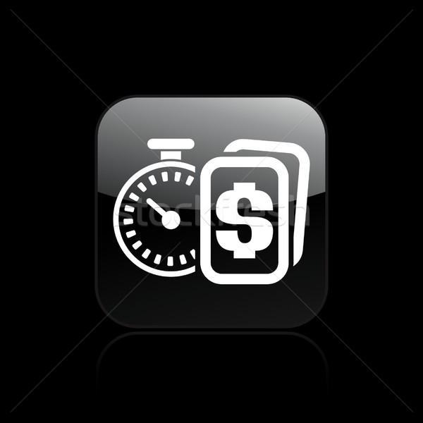 Idő pénz ikon Stock fotó © Myvector