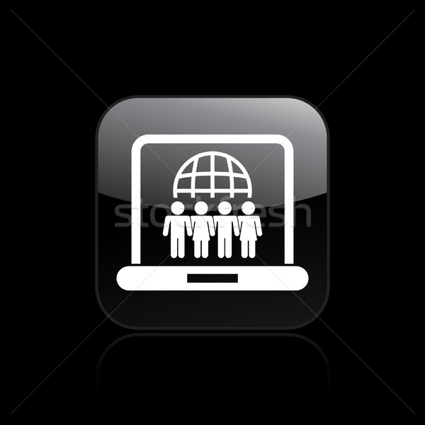 Web social union icon  Stock photo © Myvector
