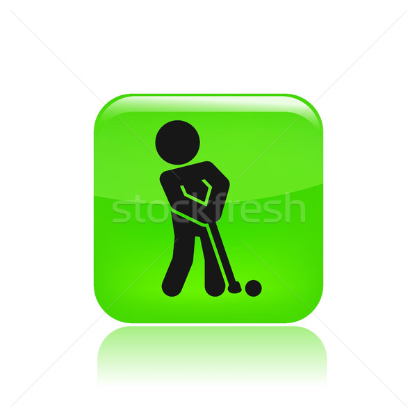 Сток-фото: гольф · икона · целевой · игры