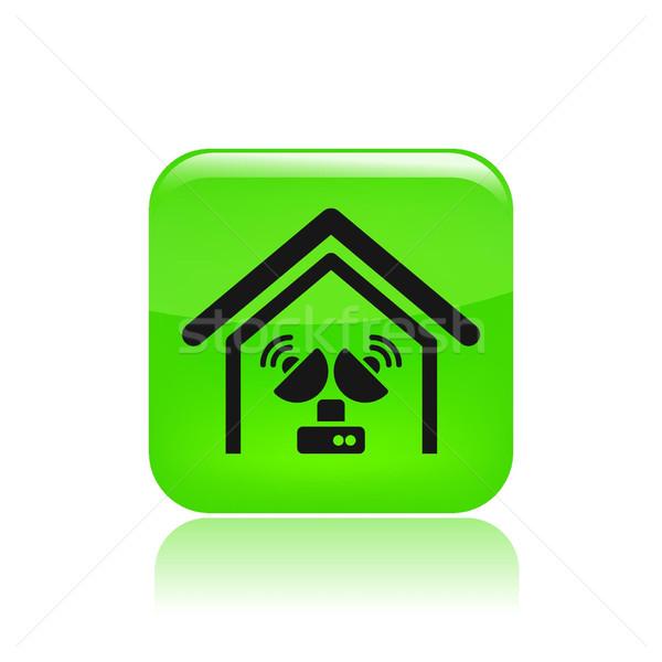 Antena casa icono televisión Foto stock © Myvector