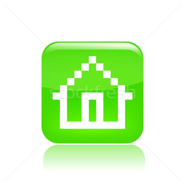 ícone do computador computador casa arquivo conceito Foto stock © Myvector