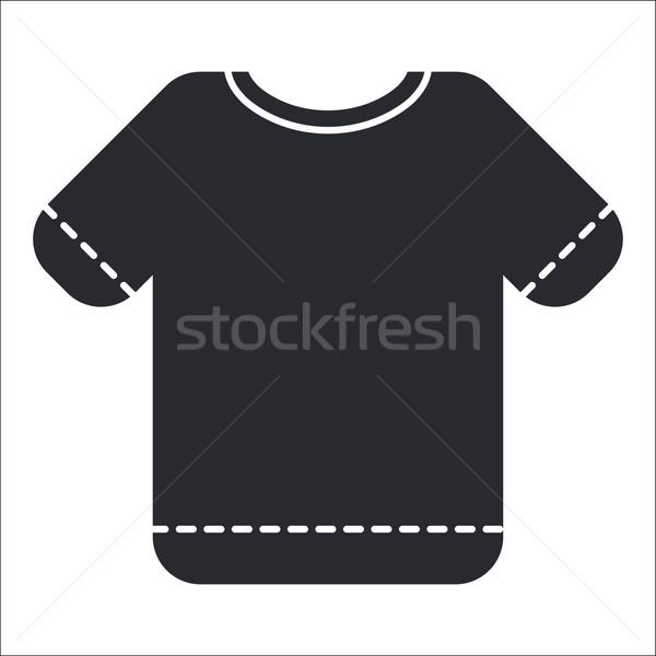 Tshirt ícone camisas roupa Foto stock © Myvector