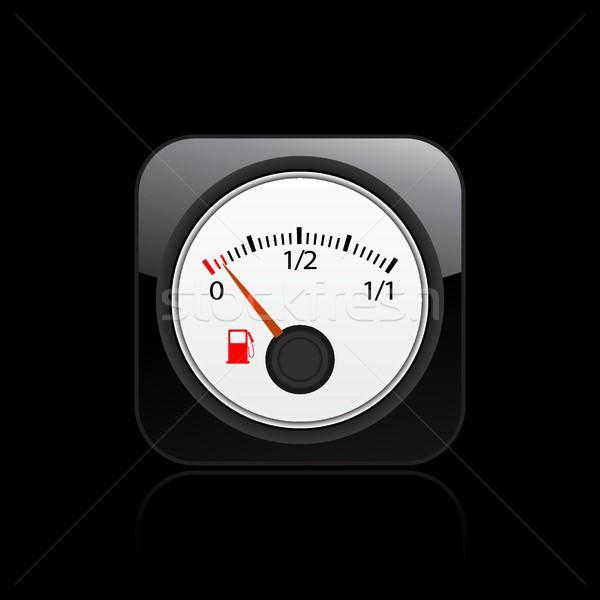 Combustível indicador ícone conceito controlar Foto stock © Myvector