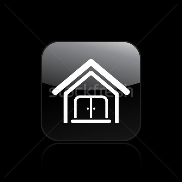 дома икона домой недвижимости вектора Сток-фото © Myvector