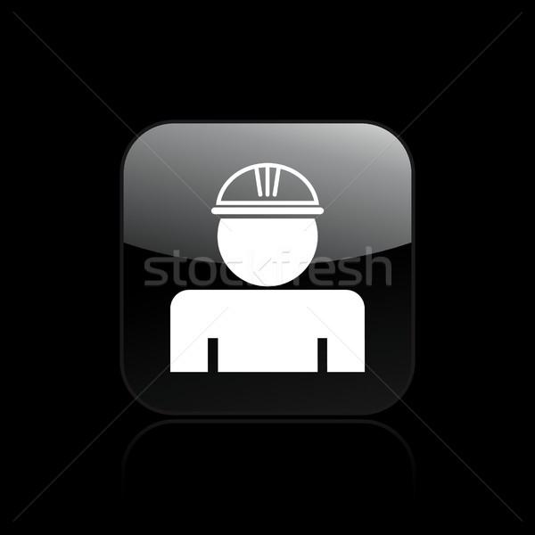 Işçi ikon güvenlik işçiler Stok fotoğraf © Myvector