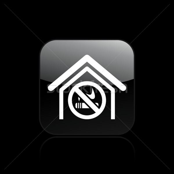 Сток-фото: не · дым · икона · знак