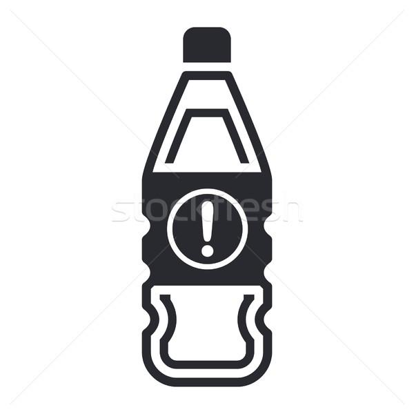 Niebezpieczny butelki ikona płynnych zanieczyszczenia etykiety Zdjęcia stock © Myvector