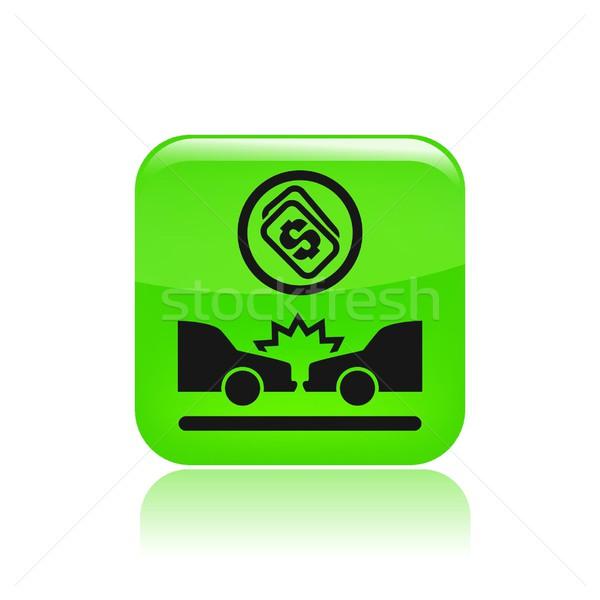 Crash cost icon Stock photo © Myvector