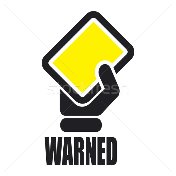 Warned icon Stock photo © Myvector