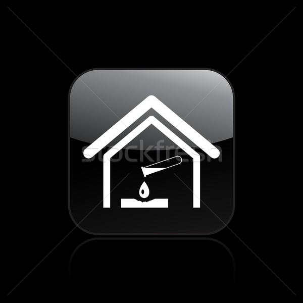 Peligroso icono muerte peligro tubo de ensayo Foto stock © Myvector