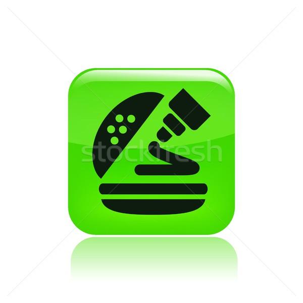 Molho ícone sanduíche vetor isolado Foto stock © Myvector