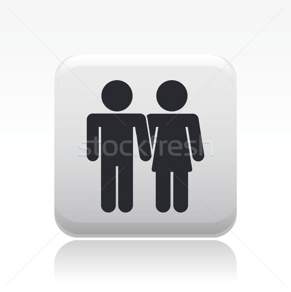 Casal ícone família coração amantes conceito Foto stock © Myvector