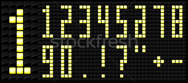 Console scoreboard number icon  Stock photo © Myvector