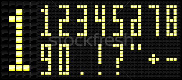 Consolare tabellone segnapunti numero icona sport stile Foto d'archivio © Myvector