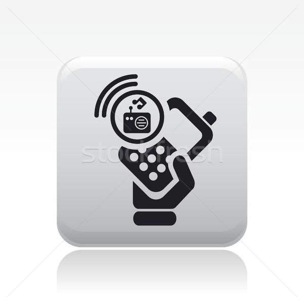 Phone radio icon Stock photo © Myvector