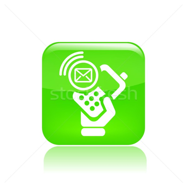 Mail telefoon icon hand telefoon brief Stockfoto © Myvector