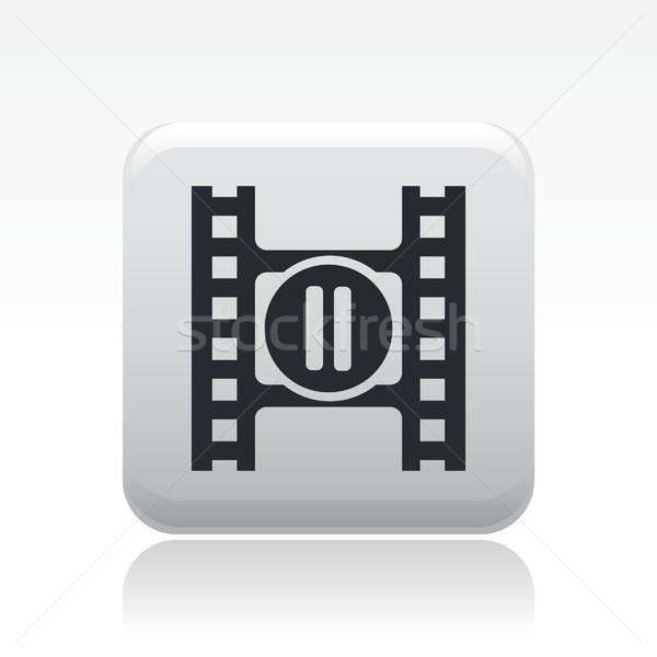 остановки видео икона фильма звук Сток-фото © Myvector