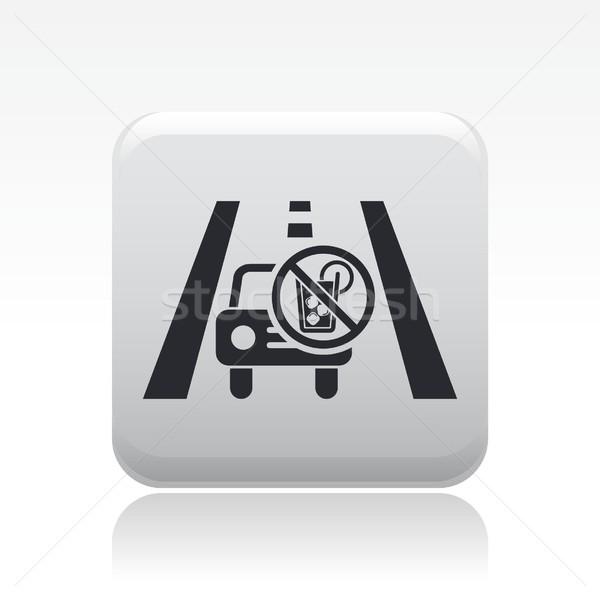 Részeg vezetés ikon utca törvény alkohol Stock fotó © Myvector