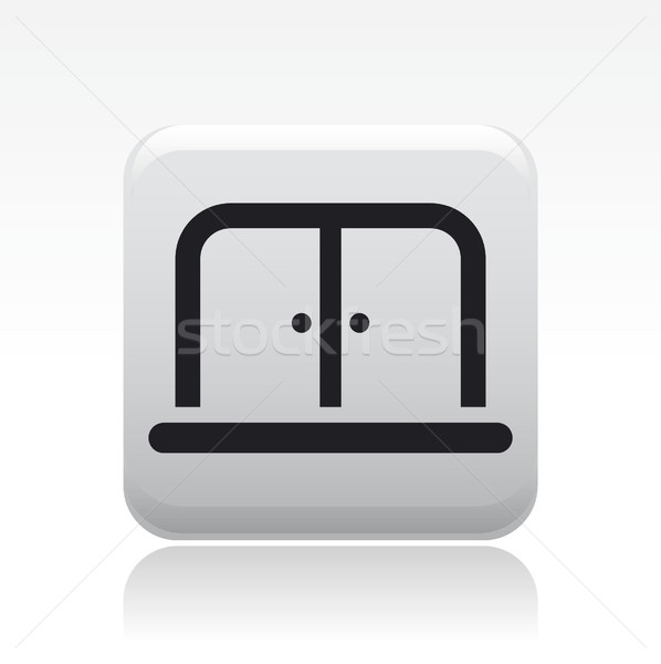 дверей икона дома вектора Сток-фото © Myvector