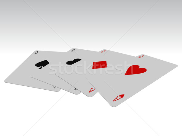 孤立した ポーカー カード デザイン お金 家 ストックフォト © Myvector