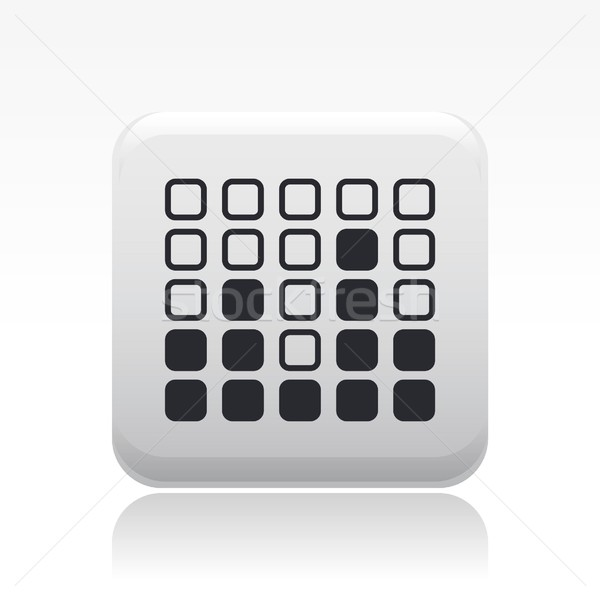 Ikon düğme resim ses grafik büyüme Stok fotoğraf © Myvector