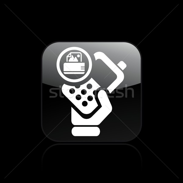 Print telefoon icon printer Stockfoto © Myvector