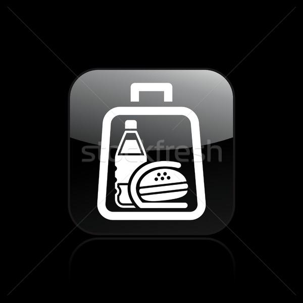 икона воды сумку сэндвич обед быстрого питания Сток-фото © Myvector