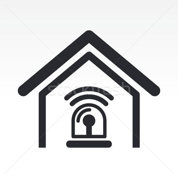 Stock photo: Home alarm icon