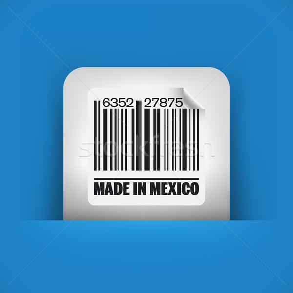 Kék szürke ikon piac tinta címke Stock fotó © Myvector