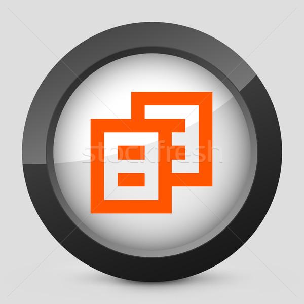 Elegante arancione lucido icona computer carta Foto d'archivio © Myvector