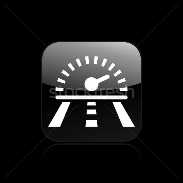 скорости гонка икона дороги спортивных пути Сток-фото © Myvector