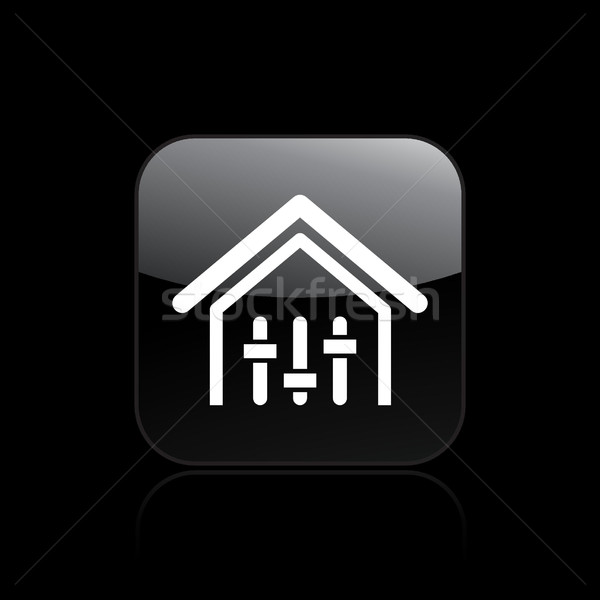 Domu miksera ikona muzyki domu disco Zdjęcia stock © Myvector