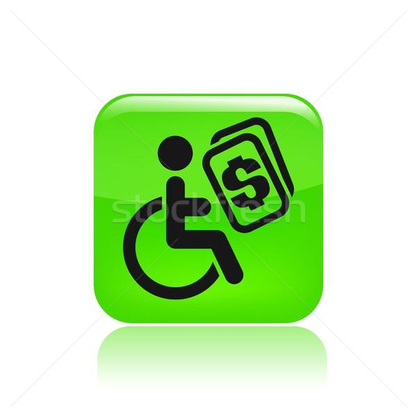 Handicap ikona niepełnosprawnych odizolowany ilustracja Zdjęcia stock © Myvector