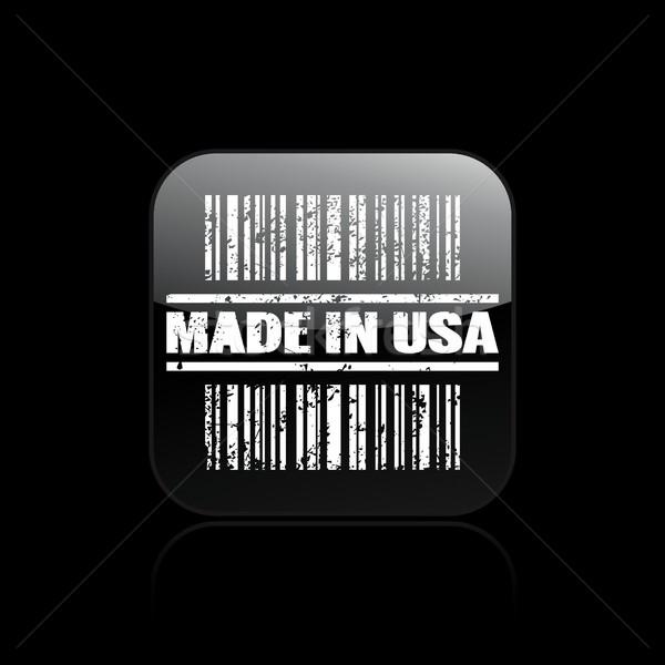 EUA ícone mercado venda etiqueta código de barras Foto stock © Myvector