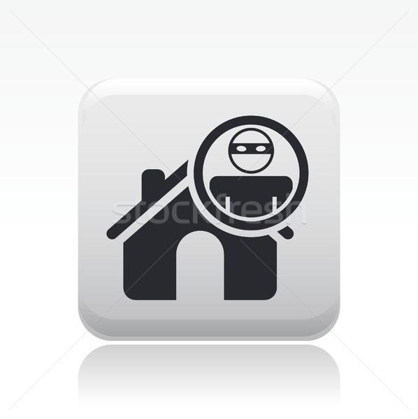 Otthon tolvaj ikon ház Stock fotó © Myvector
